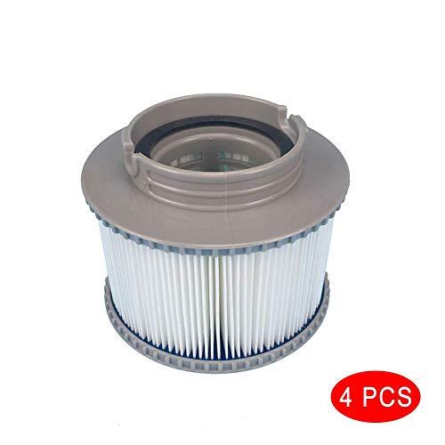 Chomile 1/2/4 Stück Filter Kartuschen Filter für Alle Modelle Whirlpool Heilbäder Schwimmbad für Mspa - 4pcs