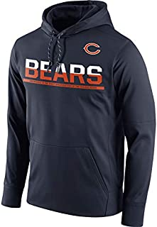VF LSG Men's Chicago Bears Navy Sideline Circuit Pullover Performance Hoodie