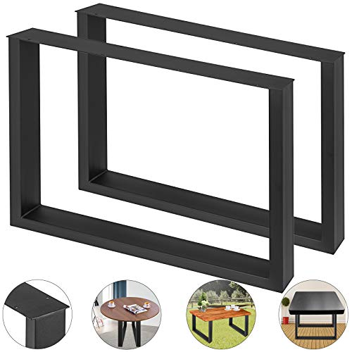 Moracle Mesa Patas en Acero 2 Patas de Mesa de Acero Patas de Mesa de Comedor/oficina/escritorio/Patas de Mesa de Bricolaje para Muebles (800 * 720MM)