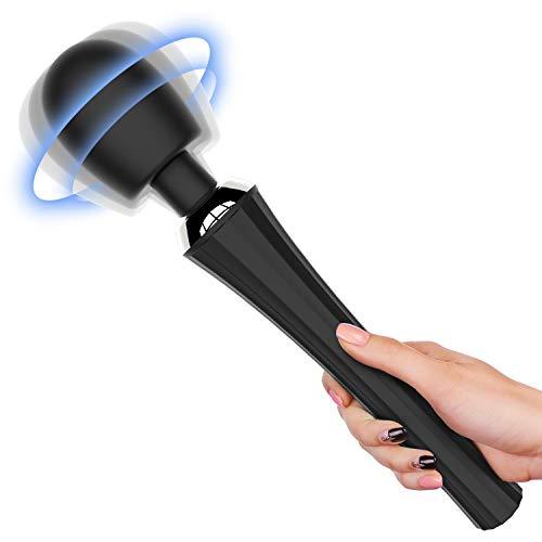 MANFLY Handheld Magic Massagestab mit 5 Rotationsmodi und 3 Geschwindigkeiten, Voll Silikon Massagegerät Wand Massage für Körper Nacken Schulter Rücken Arme und Beine Fuß