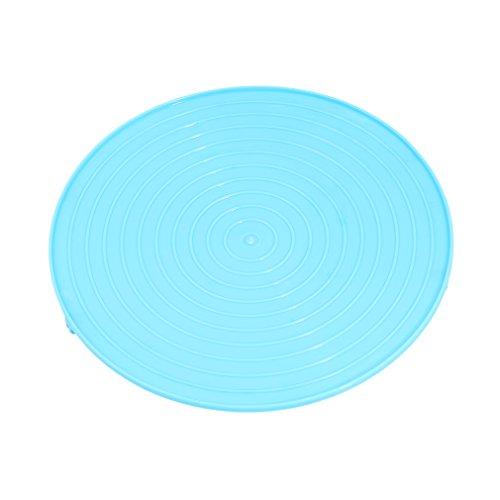 #N/A ZNMUCgs - Bandeja de cocción al vapor redonda multifuncional para horno de microondas, bandeja de vapor para cocina, polipropileno, azul, As show