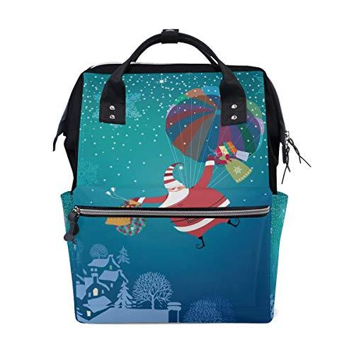 Bebé Cambio de pañales Bolsos cambiadores Mochi Blue Sea Turtle Nautical Map School Backpack Large