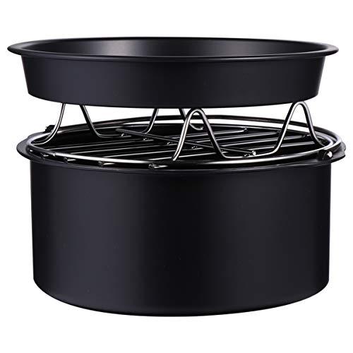 Hemoton 3 Uds.Accesorio para Freidora de Aire Canasta de Pastel Universal Parrilla para Barbacoa Plato de Pizza para Gowise Phillips Cosyna 16Cm