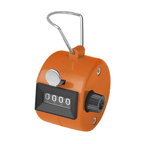 Gogo Contador Manual de 4 Dígitos, Número Contador de Mano de 8 Colores, Ideal para Eventos Deportivos