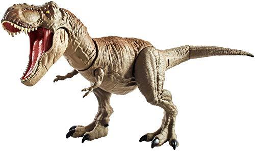 Jurassic World - Mandibula Extrema T Rex Dinosaurio de juguete, Multicolor (Mattel GNH34), Embalaje sostenible