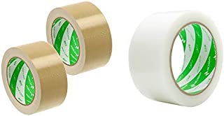 ニチバン 布テープ 中軽量物封かん用 50mm×25m 121-502P 2巻パック & フィルムクロステープ 養生テープ 50mmX25m 白 185-50