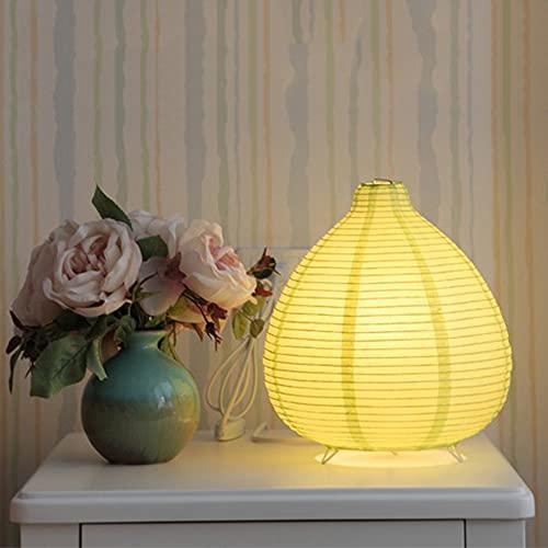 Yuemingsong Lighting Lámpara de Mesa de Papel Plegable, Lámpara de Mesa en Forma de Gota para Dormitorio, Estudio de Cabecera, Decoración de la Habitación de los Niños,Amarillo