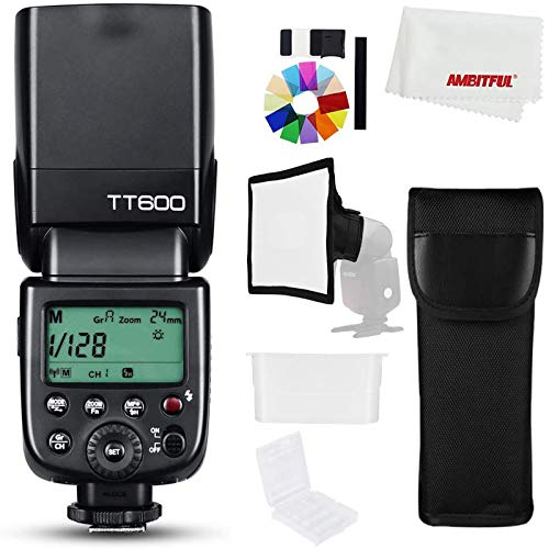 Godox TT600 2.4G Wireless Camera Flash Flash Flash Light GN60 Master Slave Flash con trigger Speedlite integrato per Canon Nikon Pentax Olympus Fuji (TT600)