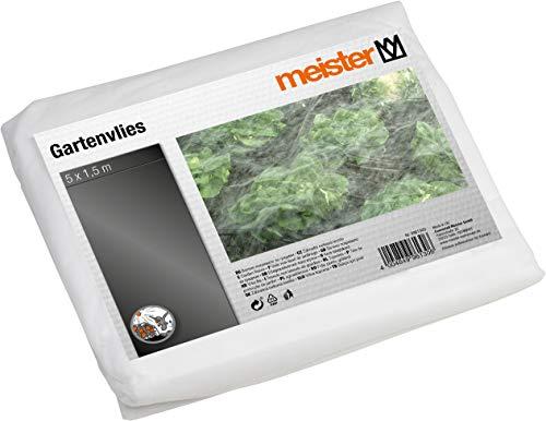 Meister Gartenvlies 5 x 1,5 m - 17 g/m² - PP - Schutz vor Kälte - Luft- & wasserdurchlässig - Geeignet zur Ernteverfrühung - Unterstützt den Reifeprozess / Schutzvlies / Beet-Abdeckung / 9961300
