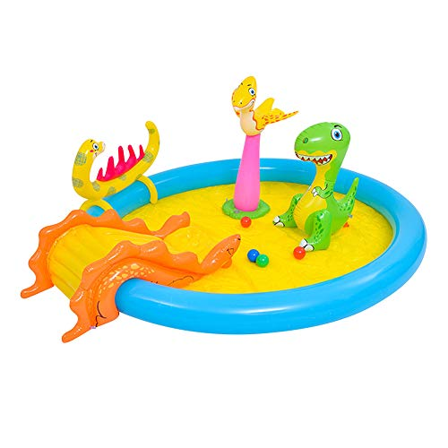 SJTL Play Center, Centro de Juegos acuático Hinchable, Piscina Inflable del Agua del balador de la Diapositiva del Agua con el Agua de la Diapositiva Larga, Piscina de la Familia,B