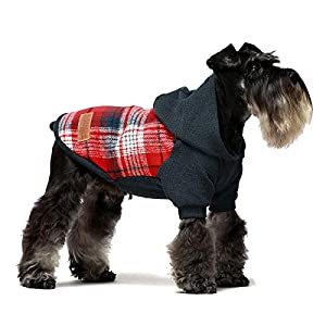 Fitwarm Knitted Pet Clothes Dog Sweater Hoodie Sweatshirts Pullover Cat Jackets Red Small