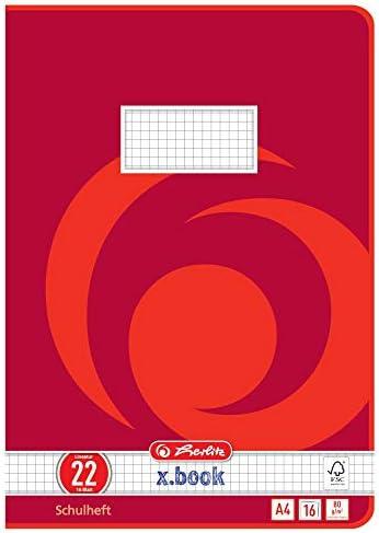 8 Schulhefte Din A4 16 Blatt kariert m Rand Lineatur 26 nachhaltiges FSC Papier