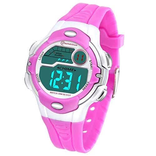 Reloj para Niños Infantiles Reloj Niñas Digital al Aire Libre a Prueba de Agua con Alarma Cronómetro, Relojes de Pulsera Digitales Regalo de Cumpleaños para Niños