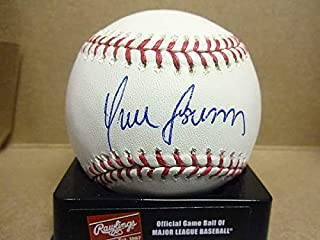 Autographed Yunel Escobar Angels Braves Nationals Signed Major League Baseball - COA Included