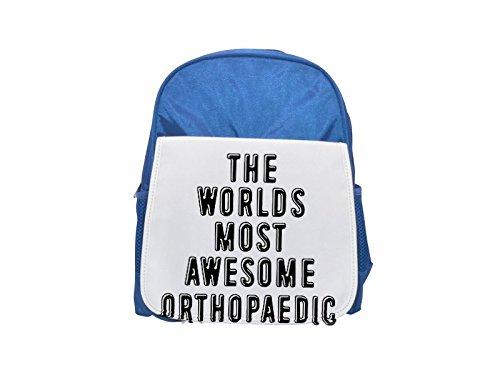 Los mundos más increíble ortopédico impreso Kid 's azul mochila, para mochilas, cute small Mochilas, cute negro mochila, Cool mochila negra, moda mochilas, Gran moda mochilas, negro Fashi