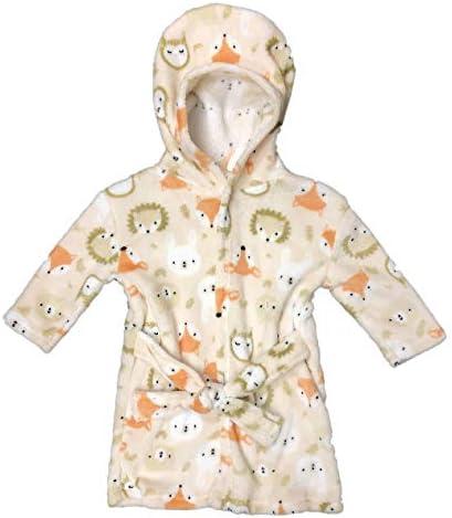 MODERN BABY Bath Robe for Boys Girls Infant Newborn 0 9 Months Cute Hooded Baby Bathrobe One product image