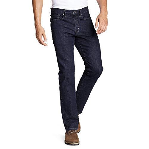 Eddie Bauer Men's Flex Jeans - Straight Fit Deep Rinse