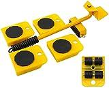 Yomiro 5 Pezzi Sollevatore per Mobile Portatile, Dispositivi di Scorrimento Set, Sollevamento per mobili, Set Spostare Mobili Pesante 150KG