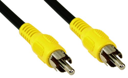 InLine 89937B Cinch Kabel, Video, 1x Cinch Stecker / Stecker, Steckerfarbe gelb, 0,5m