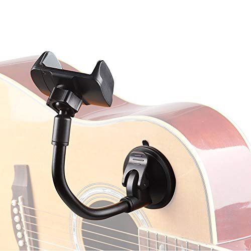 Mr.Power Smart Phone Smartphone Holder Mount Clip Suction Cup for Acoustic Electric Classical Guitar (Suction Cup Phone Holder)