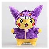 ZJSXIA Pokemon Stuffed Animal Toys Costume Pikachu Plush Toys Soft Doll 11'' 28cm Lovely Cute Pikachu Dolls Gift Pillow Birthday Present Pikachu Toy