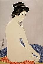 Japanese Art Print - Woman after a Bath (Delicate Skin) by Hashiguchi Goyo (11
