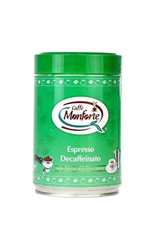 Caffè Monforte entkoffeinierter Espresso in der Dose, 2er Pack (2 x 250 g)