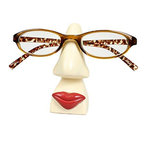 JewelryNanny Funny Brillenhalter Nase für Kommode, Schreibtisch, Night Ständer One Size Mrs. Eyeglass