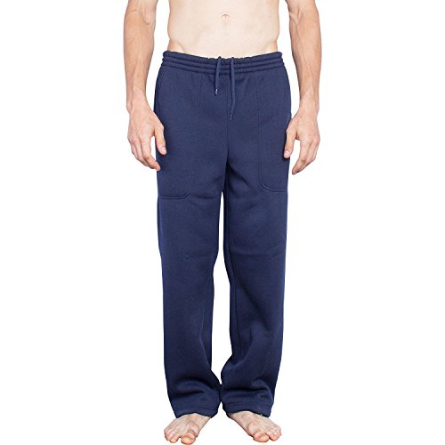 Oscar Sports Activewear Sweatpants for Men | Big and Tall Mens Drawstring Elastic Waist Pants-NVY-XXL