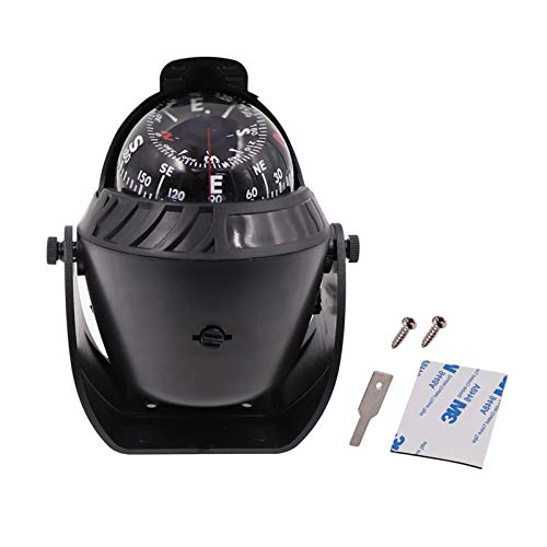Electronic Marine Navigation Compass Dashboard Boat Compass Dash Mount LED Light Pivoting for Car Compass Automotive