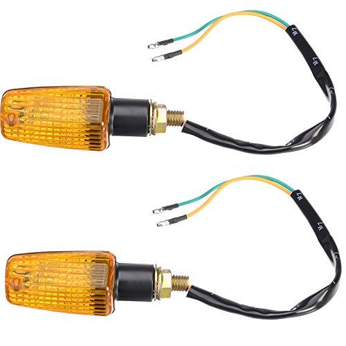 HAIHAOYF 1 par Mini Universal Motorcycle Gurn Sign Sign Light Light Bulb Black Plástico Housing Amber Light
