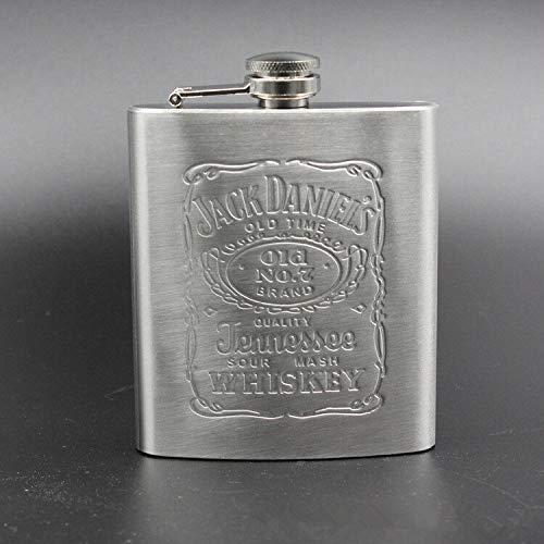 Portátil de bolsillo de cadera del acero inoxidable frasco de 7 oz taza de vino Wisky Botella con el Mini Vaso de alcohol for los regalos de los hombres Bebedor Petaca (Color : 1)