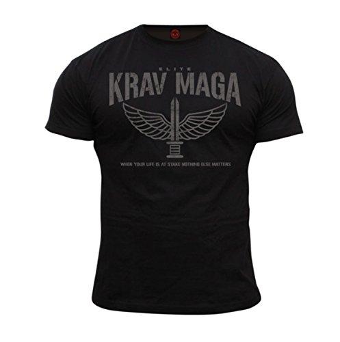 Dirty Ray Kampfsport Krav Maga Elite Herren Kurzarm T-Shirt DT36 (L)