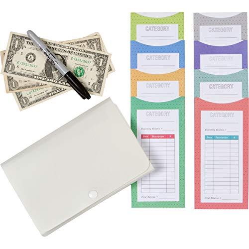 48 Cash Envelopes with Purse Organizer - Cutest Budget Envelopes Available - Eliminate Debt and Organize Your Money - Money Envelopes for Cash and Cash Envelope System Wallet - Use With Budget Planner