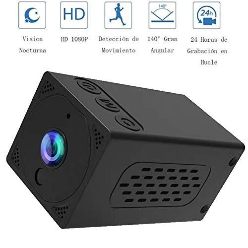 Cámara inalámbrica Wifi 1080P Mini cámara con detección de movimiento, visión nocturna, pequeña cámara de bolsillo IP portátil para smartphone interior y exterior, grabación de vídeo en vivo DUZG