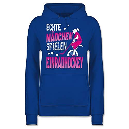 Sonstige Sportarten - Echte Mädchen Spielen Einradhockey - Fuchsia/weiß - XL - Royalblau - Echte Mädchen Spielen Einradhockey - JH001F - Damen Hoodie und Kapuzenpullover für Frauen