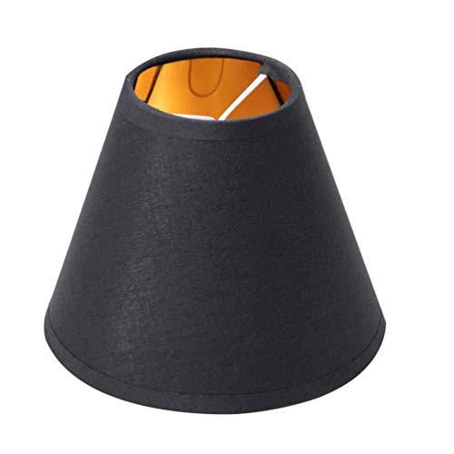 Mobestech - Paralume in tessuto a clip, per lampadario, lampada da tavolo, lampada da parete, colore nero