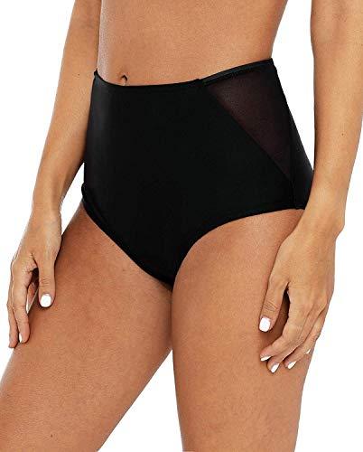 Anwell Damen uv Schutz Badeshorts Wassersport Schwimmhose Schnelltrockend Bademode Bikinihose Schwimmhose Badehose Schwarz XL