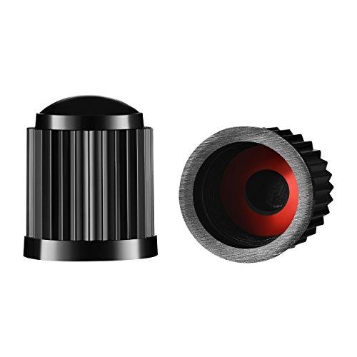 Valve-Loc - Tappi universali per valvole per Pneumatici, Confezione da 25, Colore: Nero