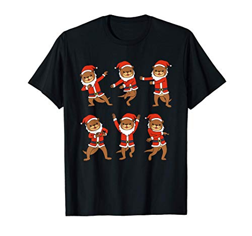 Nutria navideña Camisa Mujer Nutria Yoga Regalos Nutria Camiseta