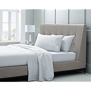 CHATEAU HOME COLLECTION Hotel Luxury 100% Supima Cotton Solid 600 Thread Count Sheet Set, Soft & Silky Sateen Weave Mega Sale, Long-staple Combed Pure Natural Supima Cotton Bedsheets, KING-WHITE