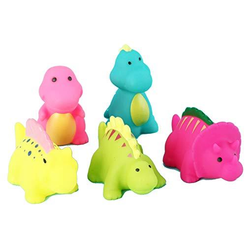 GQFGYYL-QD Juguetes de Baño, Paquete de 5 Pequeños Dinosaurios Divertidos Juguetes de Baño Piscina Baño Flotador Juguete para Niños Pequeños, Niñas
