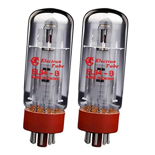 gazechimp 2pcs EL34 Elektro-Röhre Elektronenröhre Vakuumröhre Elektronenvakuumröhre aus Metall & Glas