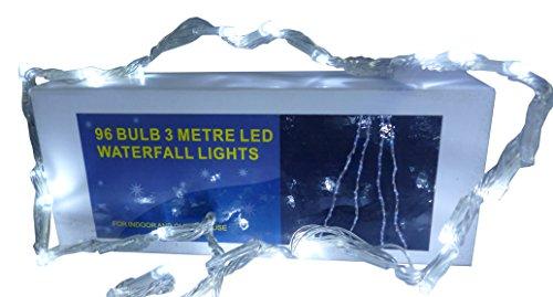 Christmas Concepts Effet Cascade 3 Mètre Blanc LED Lights - Noël et Toute l'année Ronde