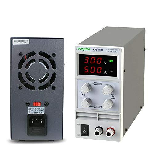 Labornetzgerät HaroldDol 0-30V 0-5A DC Regelbar Netzgerät Digitalanzeige LED-Anzeige Schaltnetzteil Netzteil Power mit Netzkabel und Ausgangsleitung