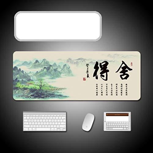 FF&XX Extended Chinese muismat, dikke grote muismat duurzaam, gestikte randen, waterdicht toetsenbord pad anti-fray doek bureau mat kantoor schrijfbureau