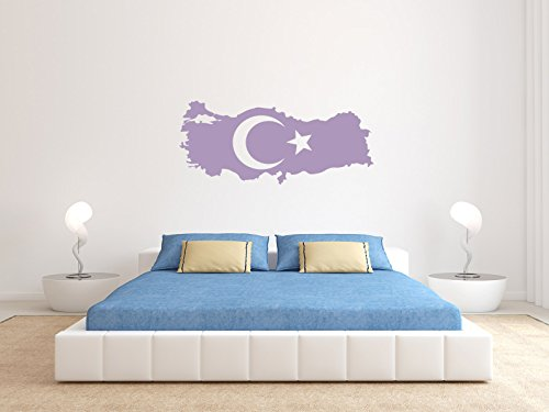 Comedy Wall Art Türkei - Flagge Land - Flieder - ca. 70 x 30 cm