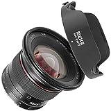 Objetivo Meike Ultra gran angular con enfoque manual compatible con cámaras Canon con bayoneta EF-M, distancia focal de 12 mm, apertura de apertura F/2.8-F/22.0, marco con recubrimiento multicapa.