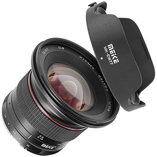 Meike Lens | Ultra groothoeklens handmatige focus compatibel met Canon camera's met EF-M bajonet | 12 mm brandpuntsafstand F/2.8-F/22.0 diafragmaopening | full-frame meerlaags verhard