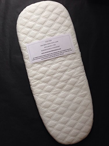 Safety Foam Breathable PRAM Mattress with Quilted Cover to FIT Oyster MAX OR Oyster 2 PRAM Body This Will NOT FIT The Original Oyster 1 CARRYCOT. The Oyster 1 Mattress is ON A Separate Listing.